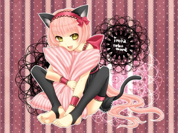 vocaloid, Nekomimi, Animal, Ears, Cat, Ears, Anime, Girls, Nekomura, Iroha HD Wallpaper Desktop Background