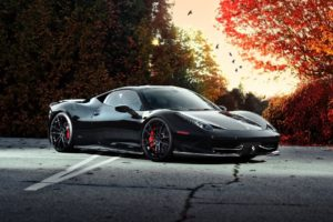 vehicles, Cars, Ferrari, Exotic, Supercar, Roads, Autumn, Fall, Trees
