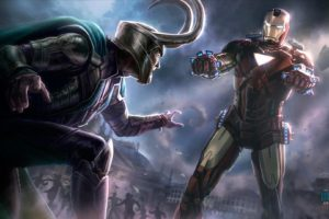 iron, Man, Comics, Concept, Art, The, Avengers, Loki, Armored, Suit, Loki, Laufeyson