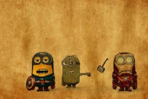 iron, Man, Thor, Funny, Hammer, Despicable, Me, Angry, Minions, Crossovers, Punch, Singing, Avengers, Punching, Hulk
