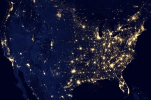 grid, Map, Usa, United, States, Power, Electricity, Night, Lights, Space, America, Cities, Populations, Places, States, Earth, Ocean, Sea, Photography, Nasa, Planets, Sci, Fi, Science