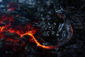 fantasy, Dragons, Movies, Fire, Flames, Manipulation, Cg, Digital, Coals, Animals, 3d, Art, Dark, Creepy, Detail