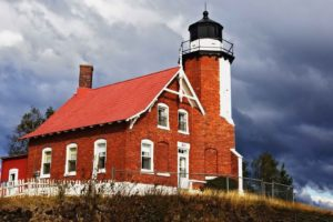 eagles, Lighthouses, Michigan, Harbor
