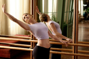 dance, Pose, Ballet, Dancer, Boobs, Breast, Cleavage, Stomach, Butt, Rear, Blonde, Model, Style, Face, Babes, Sexy, Sensual, Mood, Women, Females, Girls, Mirror, Glass, Window, Rail, Wood, Floor