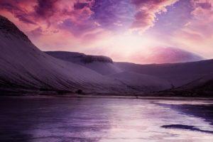 mountains, Landscapes, Multicolor, Digital, Art