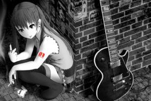 tattoos, Smoking, Black, And, White, Vocaloid, Hatsune, Miku, Smoke, Tie, Skirts, Long, Hair, Rings, Tongue, Pierci, Art, Tattoos, Hd, Wallpaper, Guitars, Sadic, Anime, Manga, Music, Humor, Funny, Bricks, Art, Wo