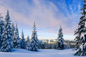 nature, Landscapes, Mountains, Hills, Trees, Forests, Winter, Snow, Cold, White, Sky, Clouds, Seasons