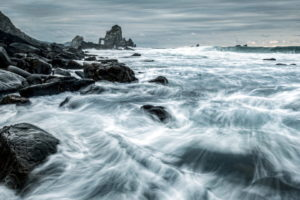nature, Seascape, Sea, Ocean, Shore, Coast, Rocks, Waves, Timelapse, Lapse, Motion, Sky, Clouds, Water, Beaches