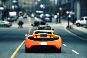 mclaren, Selective, Roads, Vehicles, Cars, Auto, Supercar, Orange, Color, Cities