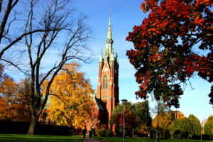sweden, Buildings, Cathedral, Church, Autumn, Fall