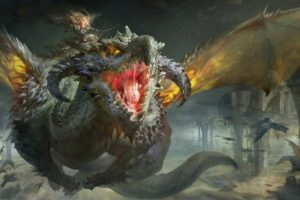 fantasy, Dragon, Art