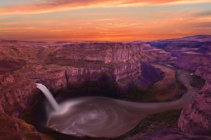 nature, Canyon, Waterfalls