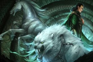 lokiand039s, Children, By, Sandara, Asgard, Fantasy, Books, Animals, Horses, Wolves, Art, Men, Magic, Monster