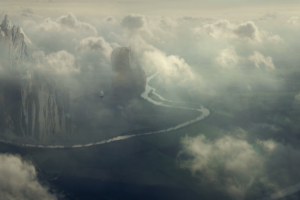 multi, Monitor, Dual, Screen, Fantasy, Art, Ships, Landscapes, Castles, Clouds