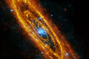 esa, Europe, Space, Herschelaeus, Infrared, Image, Of, The, Andromeda, Galaxy