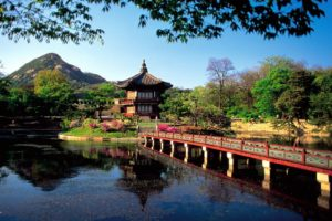 asian, Architecture, Lakes, Seoul, South, Korea
