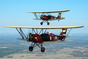 biplane, Airplane, Plane, Aircraft