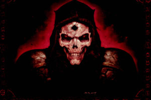 diablo, 2, Quake, Fantasy, Art, Dark, Horror, Skull, Evil, Scary, Spooky, Creepy, Face, Eyes