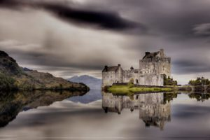 castle, Buildings, Ancient, Lakes, Water, Reflection, Landscapes, Sky, Clouds, Hdr