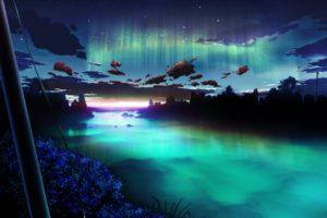 clouds, Flowers, Landscape, Night, Nobody, Original, Scenic, Sky, Water, Y k