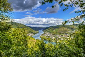 scenery, Rivers, Sky, Punderich, Clouds, Nature