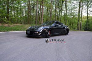 porsche, Turbo, 997, Black, Strasse, Wheels, Tuning, Cars