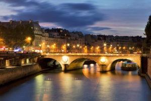 france, Bridge, River, Seine, Paris, World, Places, Cities, Night, Lights, Sky, Clouds, Sunrise, Sunset, Boats, Roads