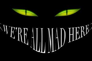 alice, In, Wonderland, Smile, Cheshire, Cat, Black, Mad, Eyes, Dark, Halloween