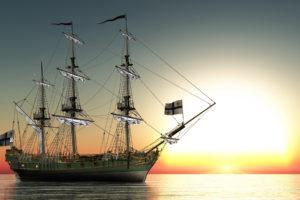 reflection, 3d, Cg, Digital, Art, Fantasy, Sailing, Boats, Ships, Ocean, Sea, Sky, Sunset, Sunrise
