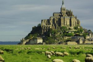 le, Mont, Saint michel, Castle, French, France, Saint, Michel, Monastery, Church, Abbey, Cathedral