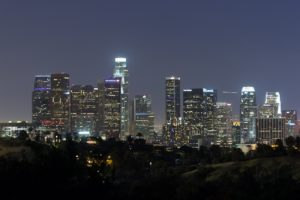 los, Angeles, California, Pacific, Ocean, Beach, Architecture, Buildings, Cities, Lights, Night
