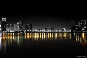 beach, Bridge, Cities, Florida, Marina, Miami, Monuments, Night, Panorama, Panoramic, States, Tower, United, Urban, Usa, Lifeguardtower, Night