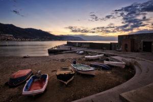 boats, Shore, Ocean, Beaches, Sunset, Sky