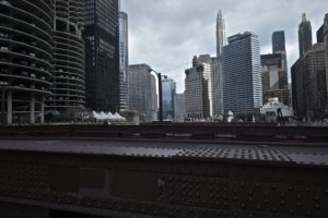 architecture, Bridges, Chicago, Cities, City, Francisco, Night, Skyline, Usa, Illinois, Trump, Tower, Mid ouest, Comta