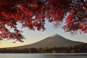 landscape, Mountain, Lake, Autumn, Fuji, Honshu, Japan, Volcano