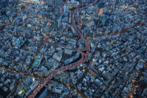 japan, Japon, Architecture, Bridges, Freeway, Building, Cities, Monuments, Night, Panorama, Panoramic, Rivers, Tower, Towers, Tokyo, Ray, Light