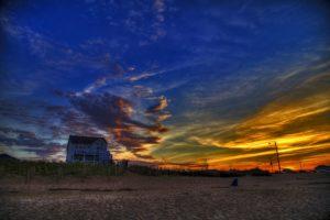 beach, Sky, Sunset, Sun, Trees, Lake, Clouds, Colour, Color, Sea, Landscape