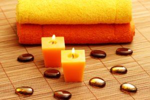 towels, Mats, Candles, Spa, Stones, Spa, Bokeh, Mood, Fire, Flames, Zen