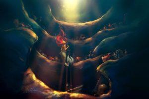 disney, Company, Redheads, Little, Mermaid, Treasure, Underwater, Ariel, Mermaid, Alice