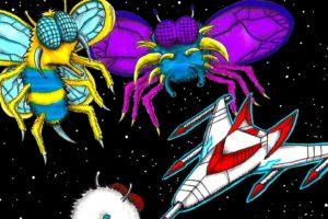 galaga, Sci fi, Arcade, Shooter, Spaceship, Action, Atari