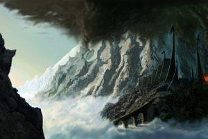 mountains, Fortress, Fantasy, Art, Silmarillion, Jrr, Tolkien