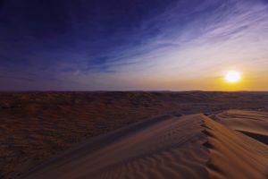 desert, Sunset, Sand, Landscapes, Nature, Dunes, Sky, Clouds, Sun, Beauty