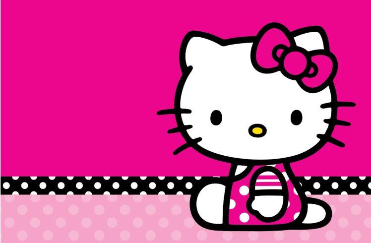 hello, Kitty, White, Cartoon, Cat, Cats, Kitten, Girl, Girls, 1hkitty, Comics, Game HD Wallpaper Desktop Background