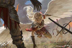 fantasy, Angel, Warrior, Artwork, Art