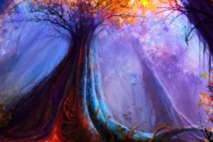 artwork, Fantasy, Magical, Art, Forest, Tree, Landscape, Nature, Autumn