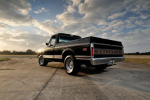 1972, Chevrolet, Cheyenne, C10, Super, 400, Pickup, Classic, Black, Usa, 4200x2790 03