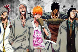 anime, Series, Bleach, Kurosaki, Ichigo, Cool, Characters, Orange, Hair, Guys, Group