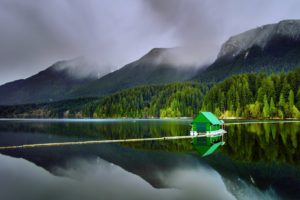 capilano, Lakes, North, Vancouver, Nature, Forest, Jungle, House, Mountains, Clouds, Trees, Landscapes, Earth