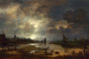 paintings, Scenic, Artwork, Eglon, Van, Der, Neer