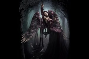 dark, Fantasy, Angel, Art, Artwork, Evil, Fantasy